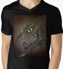 Dragon illustration Men's V-Neck T-Shirt