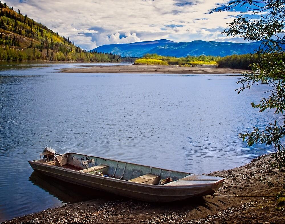 Stewart River Crossing by Yukondick