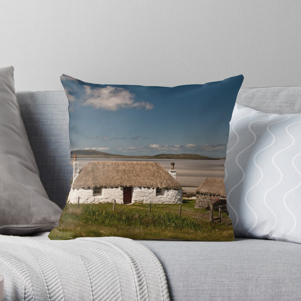 North Uist: Beach House Throw Pillow