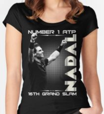Rafa Nadal The Number One Women's Fitted Scoop T-Shirt