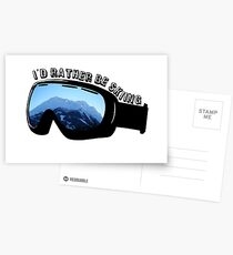 I'd Rather Be Skiing - Goggles Postcards