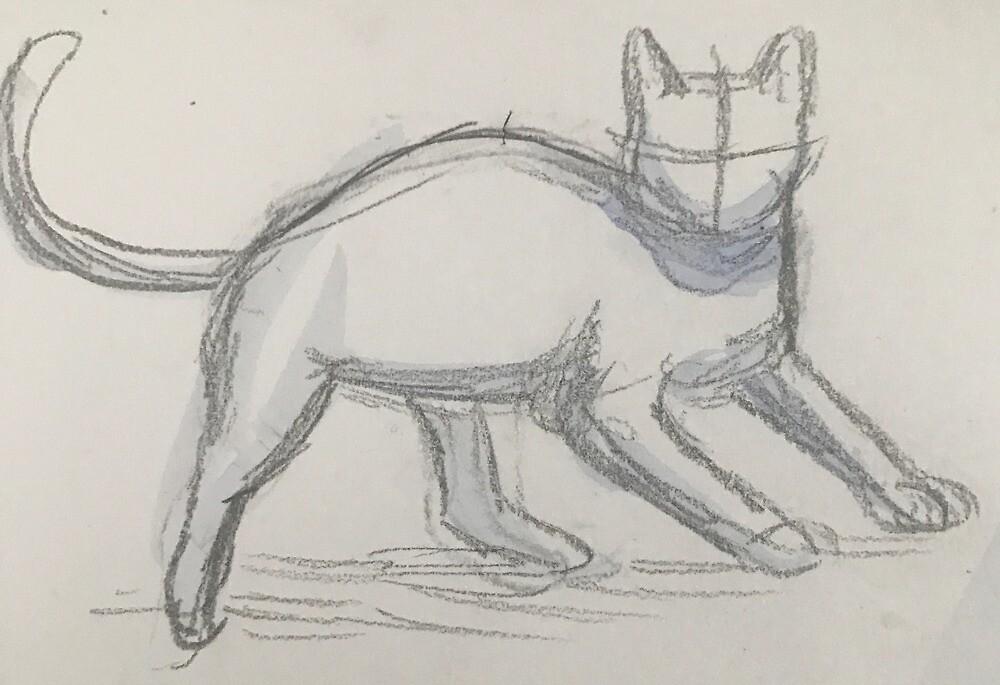 Cat Sketch by GoldenWolfie
