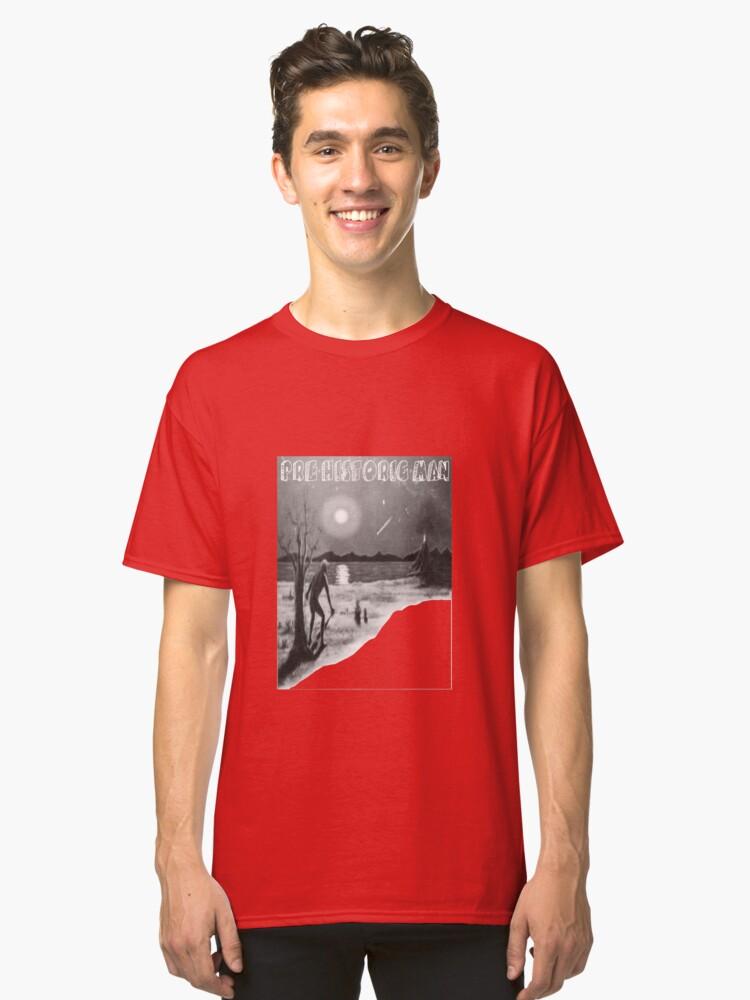 Pre historic man cave man funny t-shirt Classic T-Shirt Front