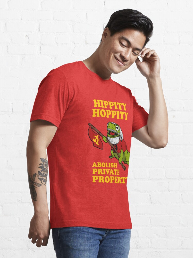 Alternate view of Hippity Hoppity Abolish Private Property Essential T-Shirt