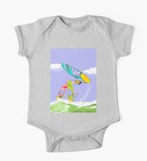 Windsurfing boys jumping and having fun One Piece - Short Sleeve