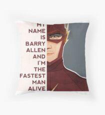 Barry Allen Throw Pillow