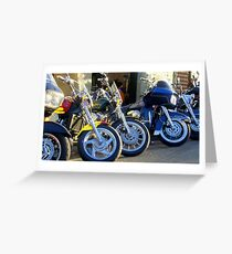 Bikes in a Row Greeting Card