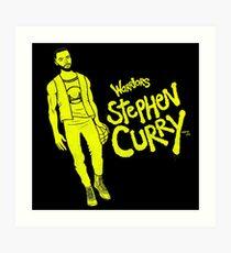 Curry - Warriors Art Print