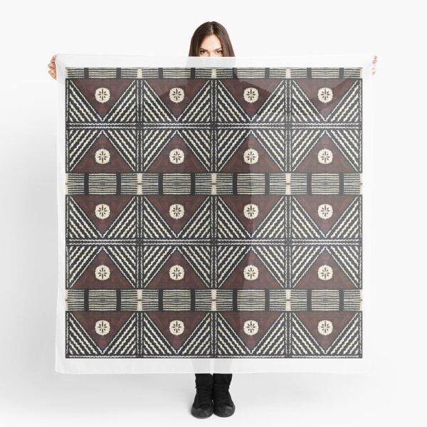 Fijian Tapa Cloth 7 by Hypersphere Scarf