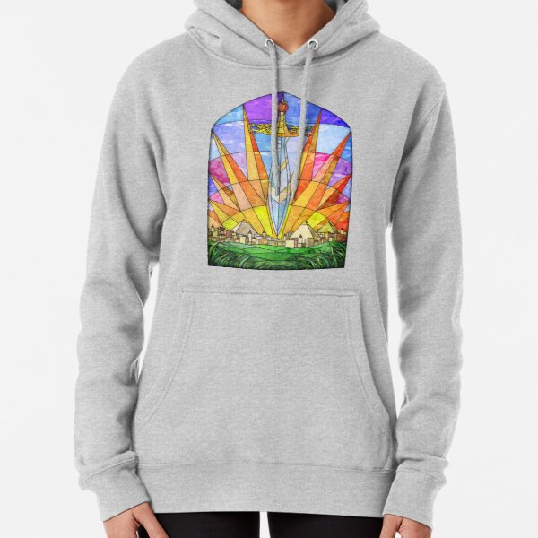 The Stained Glass Unquiet Sword Pullover Hoodie