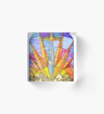 The Stained Glass Unquiet Sword Acrylic Block