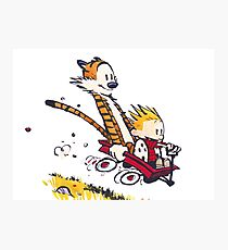 Calvin and Hobbes Red Flyer Photographic Print