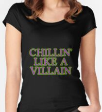 Chillin' Like A Villain Women's Fitted Scoop T-Shirt