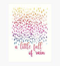Lámina artística Una pequeña caída de lluvia (3)