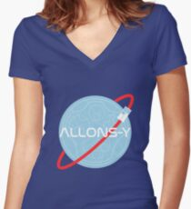 Allonsy Women's Fitted V-Neck T-Shirt