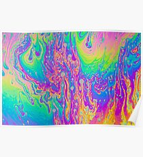 Psychedelic soap bubbles  Poster