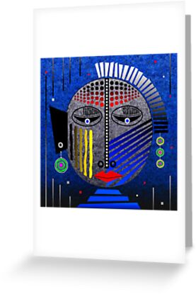Tribal Whimsy 12 - Greeting Card