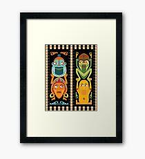 Tiki Totems Framed Print