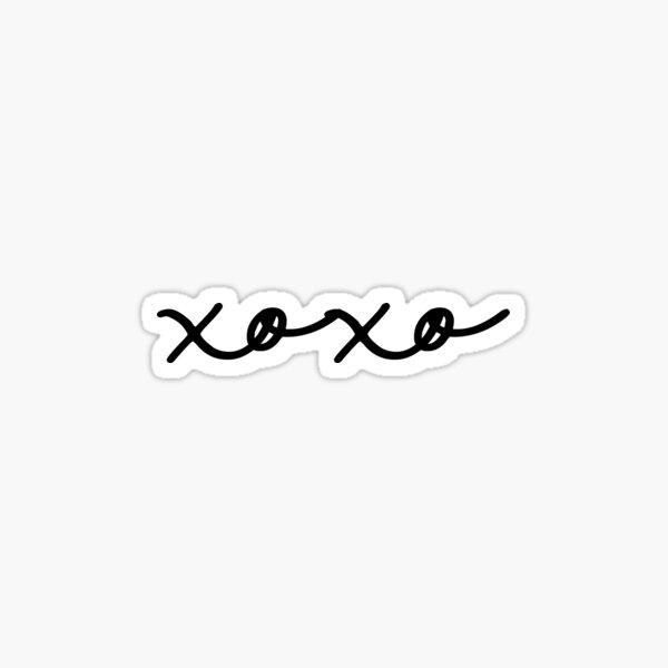 Black and White xoxo Sticker