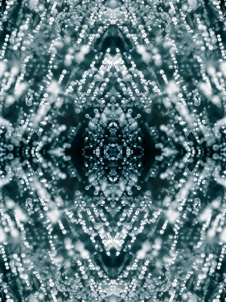 Beautiful Silver sparkles Frozen Ice bubbles Mandala by PLdesign