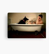 Lienzo El perro negro: depresión