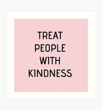 Harry Styles - Treat People With Kindness (all pink) Art Print