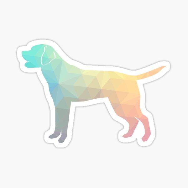 Labrador Retriever Geometric Pattern Silhouette Pastel Sticker