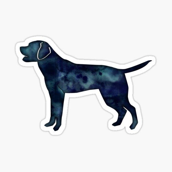 Labrador Retriever Black Watercolor Silhouette Sticker