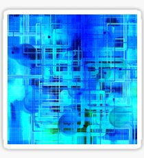 Vibrant Blue and Turquoise Pattern Abstract Sticker
