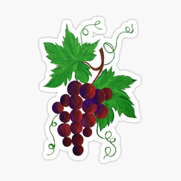 Purple Grapes on a vine Sticker