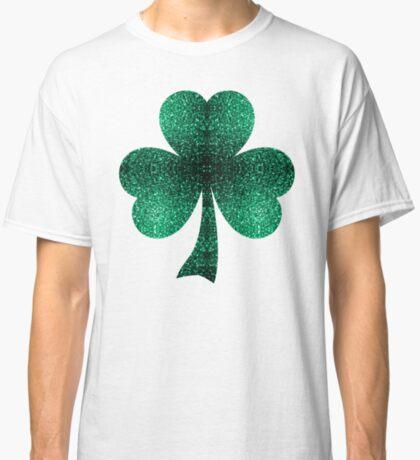Beautiful Emerald Green glitter sparkles Classic T-Shirt