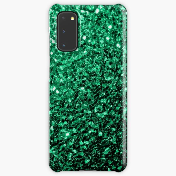 Beautiful Emerald Green glitter sparkles Samsung Galaxy Snap Case