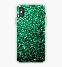 Vinilo o funda para iPhone Hermosos destellos de color verde esmeralda.