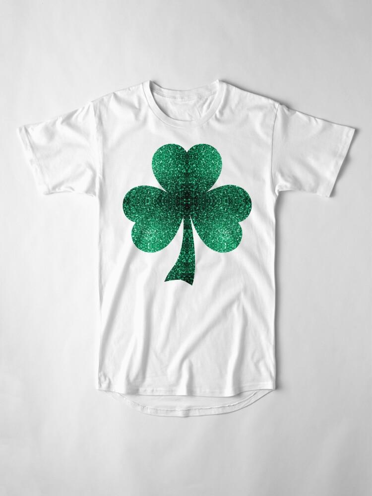 Vista alternativa de Camiseta larga Hermosos destellos de color verde esmeralda.