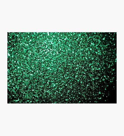 Beautiful Emerald Green glitter sparkles Photographic Print