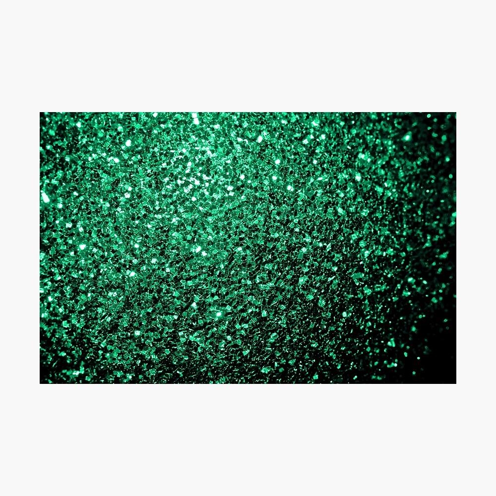 Hermosos destellos de color verde esmeralda. Lámina fotográfica