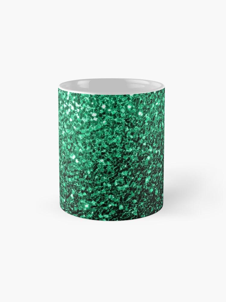 Vista alternativa de Taza Hermosos destellos de color verde esmeralda.