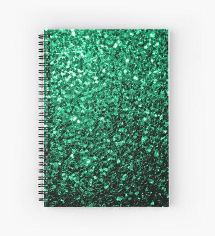 Beautiful Emerald Green glitter sparkles Spiral Notebook