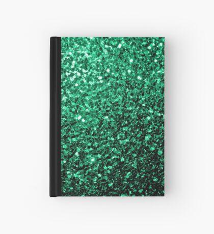 Beautiful Emerald Green glitter sparkles Hardcover Journal