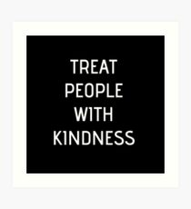 Harry Styles - Treat People With Kindness (all black) Art Print