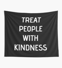 Harry Styles - Treat People With Kindness (all black) Wall Tapestry