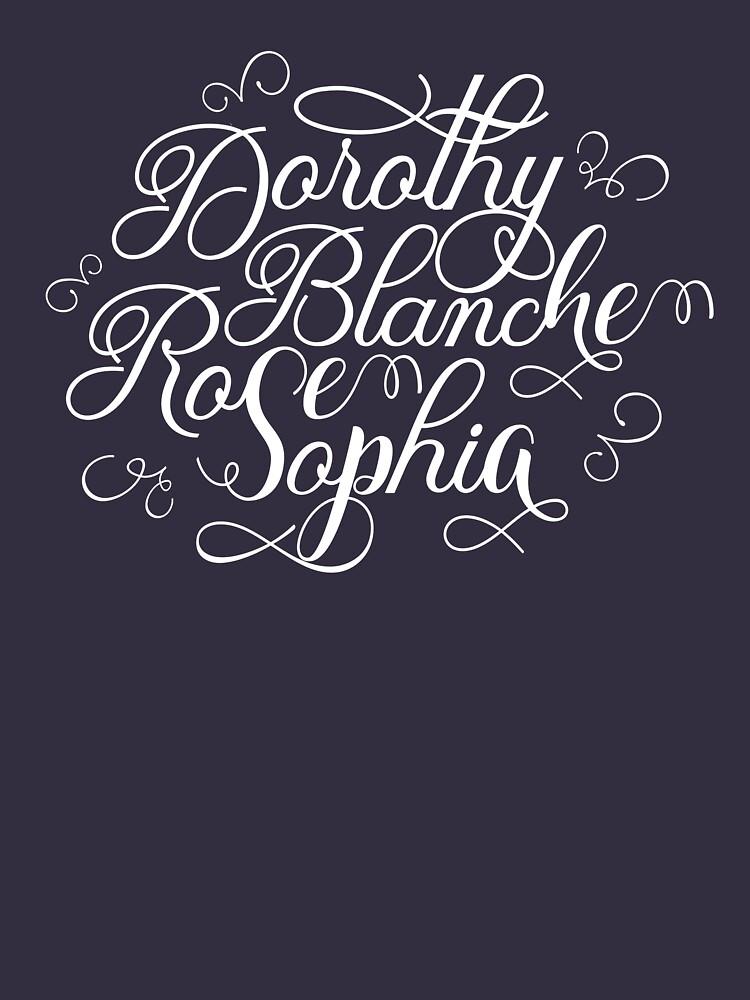 Golden Girls, Dorothy, Blanche, Rose, Sophia  by kathleenfrank