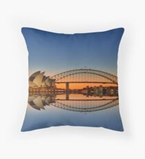 Sydney Harbour reflections Throw Pillow