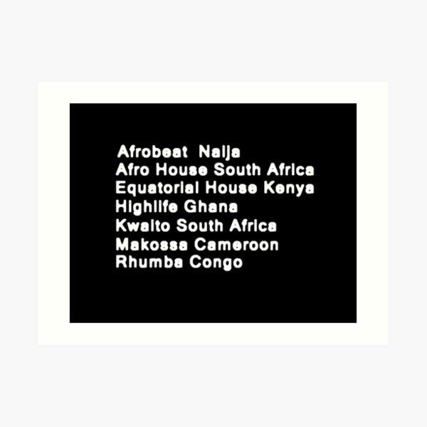 Some of the Music of Africa Art Print
