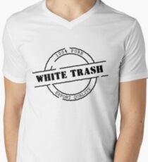 White Trash (Black Print) Men's V-Neck T-Shirt