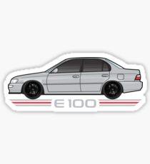 silver grey E100 corolla Sticker