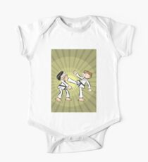 Karate a direct kick to the face One Piece - Short Sleeve