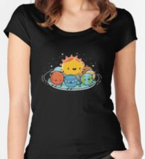Around the sun Women's Fitted Scoop T-Shirt