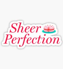 Sheer Perfection—Great British Bake Off—Cake Red Sticker