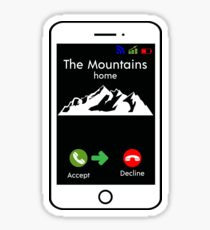 The Mountains Are Calling And I Must Go Cell Phone Cute Funny Sticker